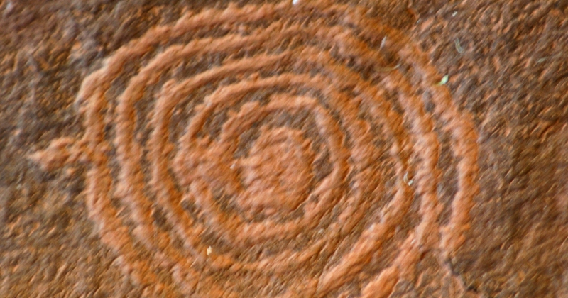 petroglyph, spiral