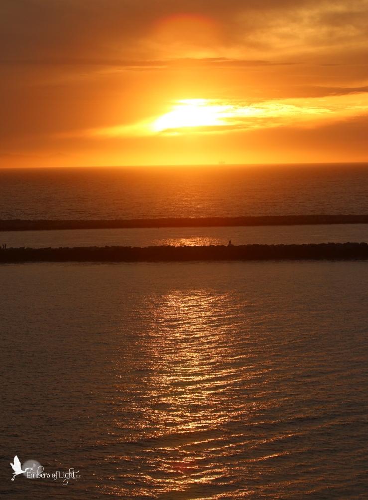 gold sunset, california, pacific ocean