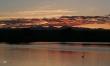 sunset, rocky mountains
